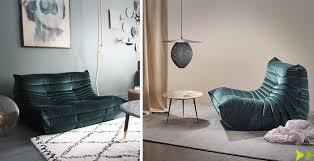 canapé neuf le célèbre canapé togo en cuir en tissus neuf vintage