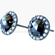 diamond earrings for sale cut halo diamond earrings in 14k white gold for sale online