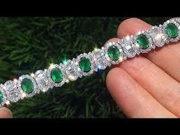 emerald bracelet white gold images 80 000 00 estate natural colombian emerald diamond 18k white gold jpg