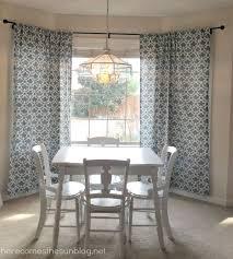 diy bay window curtain rod for less than 10