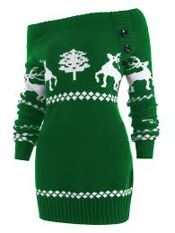 sweaters cardigans green s the shoulder knit tunic