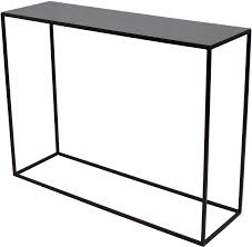 Metal Console Table Skinny Console Black Metal Finish Console Tables