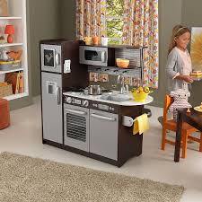Pretend Kitchen Furniture by Amazon Com Kidkraft Uptown Espresso Kitchen Toys U0026 Games