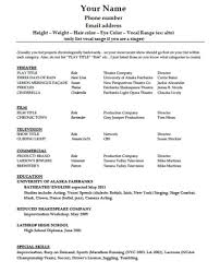 Best Resume Font Color by Surprising Acting Resume Cv Cover Letter Template Word Doc Ac Zuffli