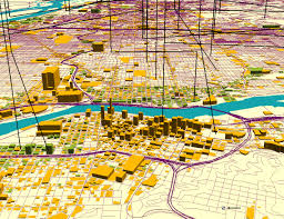 Map Of Downtown Portland by Mei Po Kwan U0027s Color Figures In Recent Publications