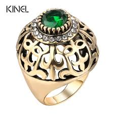 antique jewelry rings images Kinel dubai gold big antique ring fashion women vintage jewelry jpg