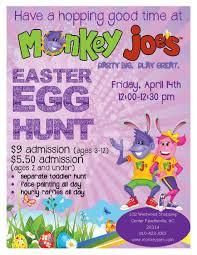 easter egg hunt at monkey joe u0027s fayetteville