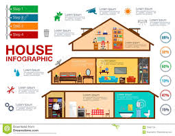 house in cutaway isometric view vector stock vector image 87981103