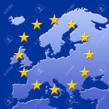 Eu Map Continent Of Europe Map With Eu Stars 3d Edges Symbolic