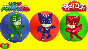 pj masks play doh surprise balls surprises learn colors