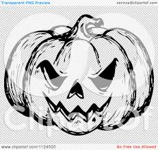 halloween background png black white clipart of a sketched black and white evil halloween jackolantern