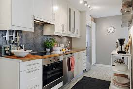 Kitchen Concept by Modern Kitchen Concept For Small Apartment With White Tile