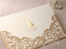 wedding invitation card modern metallic brown unique wedding invitation cards