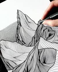 artist draws countless lines and dots to capture the majestic