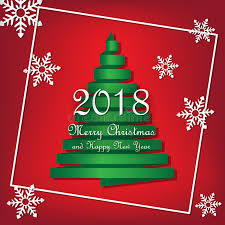 2018 merry christmas happy template vector green