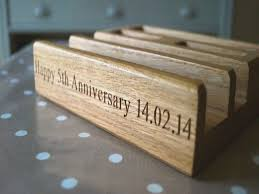 fifth wedding anniversary gifts 5th anniversary gifts for him makemesomethingspecial fifth