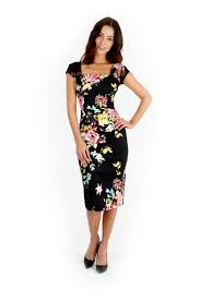 black dress company seville black cara pencil dress the pretty dress company