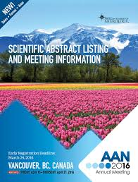 2016 AAN Annual Meeting Scientific Abstract Listing by American