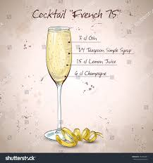 french 75 cocktail french 75 one most famous stock illustration 352366481