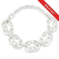 link bracelet images Gucci quot britt quot sterling silver interlocking quot g quot link bracelet