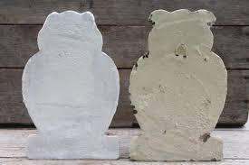 of cement owls owl doorstops or rustic garden ornaments