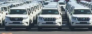 toyota dealer japan toyota land cruiser prado spotted at a dealer yard in japan