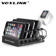 phone charger station voxlink 6 port usb charging station dock 60w 12a multiple desktop