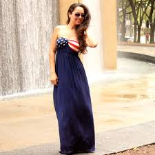 Model American Flag Usa American Flag Maxi Dress Love To Be Chic Offers The Latest
