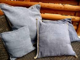 teindre housse canapé coussins lavé gris bleu l atelier de frédérique