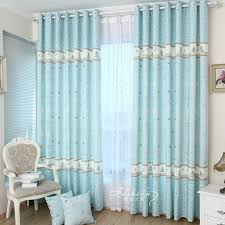 blue sweet cotton energy saving curtains for kids room buy blue