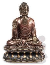 Home Decor Buddha Statue Seated Fearless Shakyamuni Buddha Altar Statue The Monastery Store