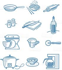 little kitchen stuff stock vector art 165037057 istock