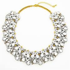 collar bib necklace images Clear resin collar chunky statement necklace by shamelessly sparkly jpg