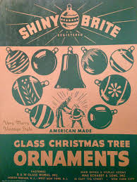 very merry vintage syle vintage shiny brite christmas ornaments