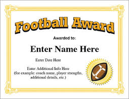 football award certificate template recognition