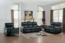 Sofa Set Leather by Homelegance Nicasio Power Reclining Sofa Set Black Leather