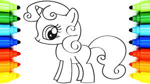 how to draw my little pony coloring pages pinkie pie animation