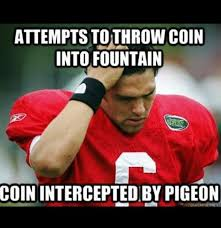 Meme Sport - coin intercepted by pigeon funny sport meme