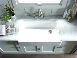solid surface farmhouse sink highpoint collection white 30 inch solid surface reversible 30 inch