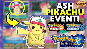 how to get the special ash pikachu in pokemon sun and moon