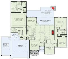 Floor Plans With Wrap Around Porch Plan 60585nd Secluded Master Suite House Traditional And Bedrooms