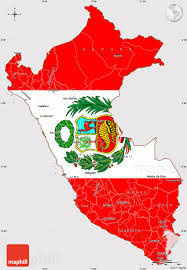 peru on map flag simple map of peru flag aligned to the middle