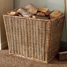 Rattan Baskets by Burley Log Rattan Storage Basket Oka