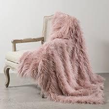 Mongolian Faux Fur Rug Amazon Com Best Home Fashion Pink Mongolian Lamb Faux Fur Throw