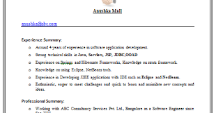 Best Resume For Experienced Software Engineer by Engineer Resume Format