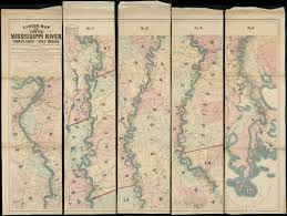 Map Of Mississippi River Lloyd U0027s Map Of The Lower Mississippi River From St Louis To The