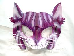 cheshire cat leather alice in wonderland cosplay mask platymorph