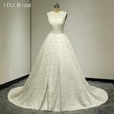 plain wedding dresses sleeveless a line floral lace plain wedding dresses real photo