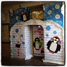winter wonderland classroom door definitely appropriate this week