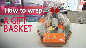 gift basket wrapping paper how to wrap a gift basket